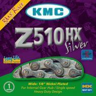 Cadena KMC Z510 HX 1 velocidad BMX 112 eslabones plata