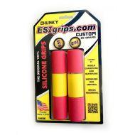 Puños Esigrips Chunky de siliciona CUSTOM (Rojo-amarillo-rojo)