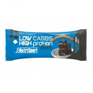 Caja de 16ud Barrita Nutrisport proteica Low Carbs High Protein Brownie