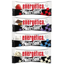 Barritas Nutrisport energética. 4 sabores. 44g