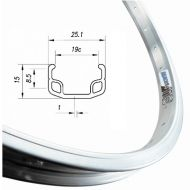 Llanta bicicleta aluminio 650B M110 584x21 (35/50) (26x1/2) 36 agujeros