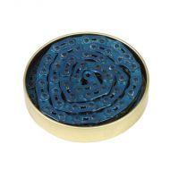 Gusset Cadena de eslabón 3/32 azul