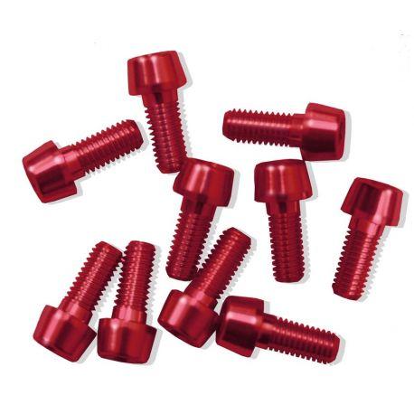 Tornillos Alu7075T6 M5x5. (10uni) rojo