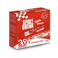 Nutrisport Sport Drink ZERO calorías 20 mineral Sticks