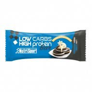 Barrita Nutrisport proteica Low Carbs High Protein Sabor cookies&cream