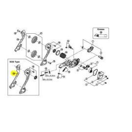 Portapoleas cambio XT M780/781/785  SGS 10v parte interior