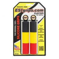 Puños Esigrips Chunky de siliciona CUSTOM (Rojo-amarillo-negro)