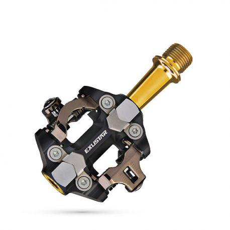 Pedales automáticos Exustar EPM222TI eje titanio