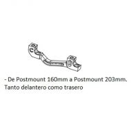 Adaptador de freno Hope C Post Mount /  Post Mount 160-203