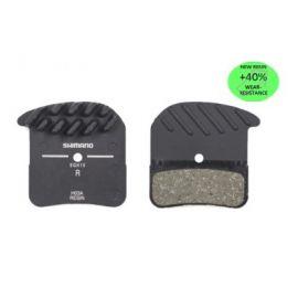 Pastillas freno refrigeradas HA03A Shimano Saint/Zee/MT501 Deore/XT 4 pistones resina