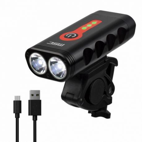 Luz delantera MSC 1000 lumens con indicador de batería