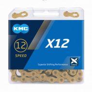 Cadena KMC X-12dorada 12 velocidades