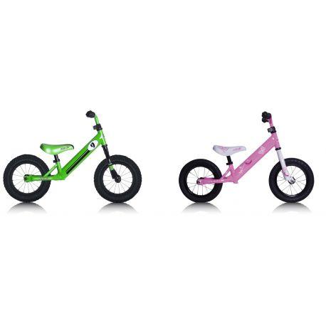 """Bicicleta PushBike Rebel Kidz 12,5"""" Air Acero, Racing verde"""
