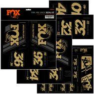 Adhesivos FOX Amortiguador y Horquilla Dorado