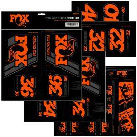 Adhesivos FOX Amortiguador y Horquilla Naranja Fluor