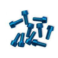 Tornillos Alu7075T6 M5x5. (10uni) azul