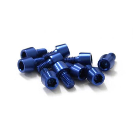 Tornillos Alu7075T6 M6x10. (10uni) azul
