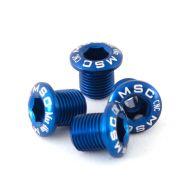 Kit tornillos platos. M8x8/8.5 Alu7075T6. 4 azul