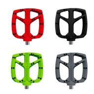 Pedales de plataforma OnOff Resina nylon bicicleta negro, rojo, verde, gris