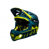 BELL - Casco Desmontable - Super DH 2021 Blue/HI-VIZ