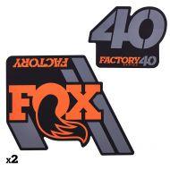 Kit adhesivos Fox 40 Factory 27.5/26 2019