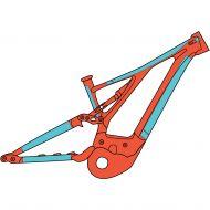 RIDE WRAP - protector de cuadro bicicleta eléctrica - Covered eMTB