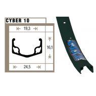 """Aro Cyber 10 para 26"""" con 36 agujeros"""