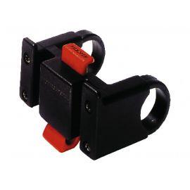 Adaptador para manillar Klickfix negro 22-26mm