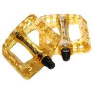 Odyssey pedales BMX Dorado amarillo transparente