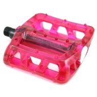 Odyssey pedales BMX Rosa transparente