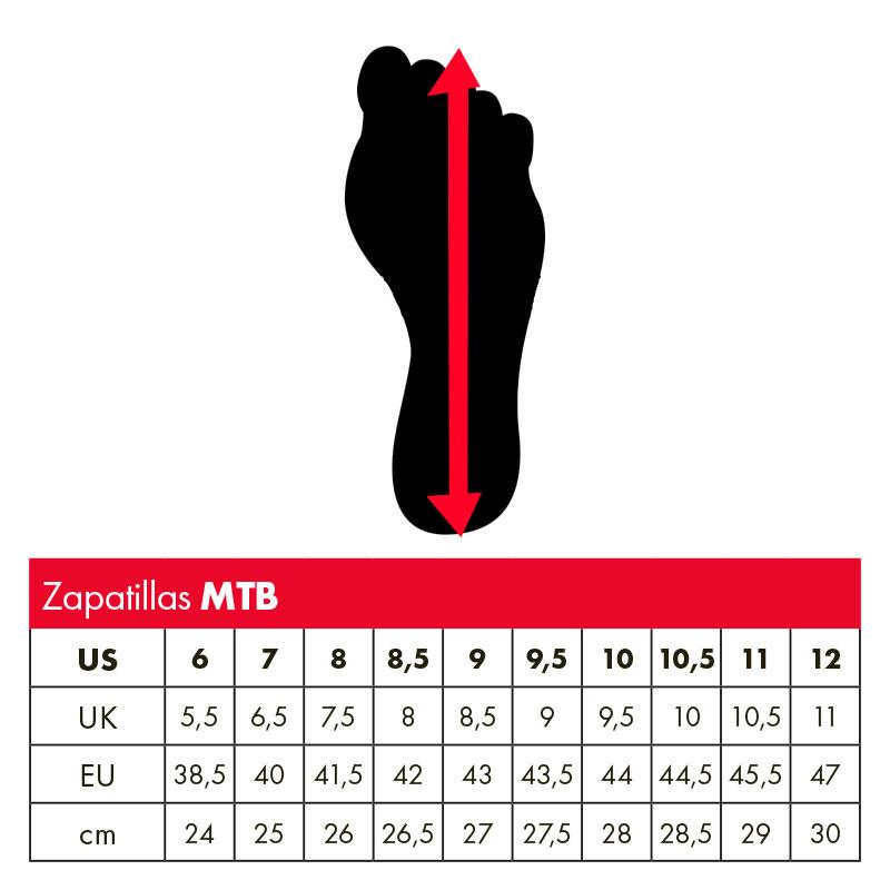 Tabla de tallas zapatillas Leatt DBX